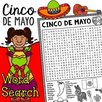 Cinco De Mayo Word Search Activity