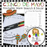 Cinco De Mayo Word Search and Printable