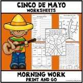 Cinco De Mayo Worksheets Print and Go Morning Work