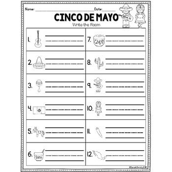 Cinco De Mayo: Write the Room