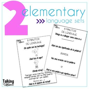 Cinco Minutos de Lenguaje (5 Minutes of Spanish Language Homework)