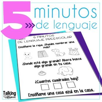 No Prep Spanish Language Homework for Speech Therapy
