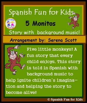Cinco Monitos Story in Spanish with Background Music.
