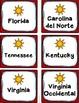 Cinco Regiones de los Estados Unidos Grupo de Tarjetas: Ciudades capitales