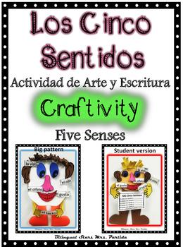 Cinco Sentidos Five Senses Craftivity WritingBilingualStarsMrs.Partida