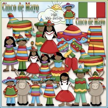 Cinco de Mayo Clip Art - Mexico Clip Art - Mexican - Hispanic -CU Clip Art & B&W