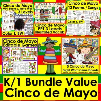 Cinco de Mayo Activities | Bundle Value - 5 Products + Bonus Boom Cards
