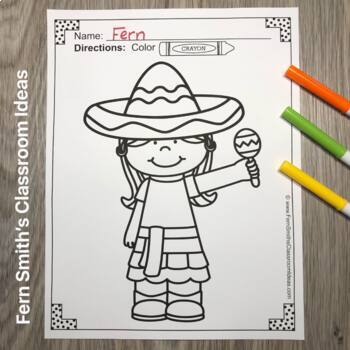 Cinco De Mayo Coloring Pages Freebie