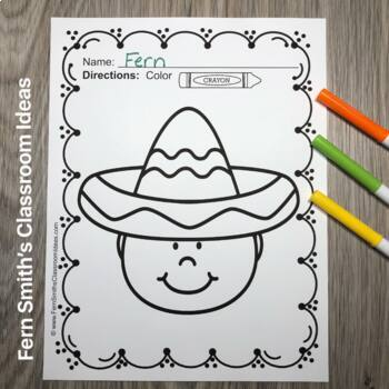 Cinco De Mayo Coloring Pages Freebie By Fern Smith S Classroom Ideas Cinco De Mayo Coloring Pages