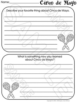 Cinco de Mayo - Craftivity and Writing Activities