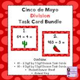 Cinco de Mayo 2 Digit and 3 Digit by 1 Digit Division Task Card Bundle