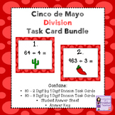 Cinco de Mayo 2 Digit and 3 Digit by 1 Digit Division Task