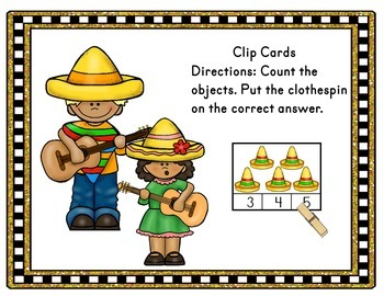 Cinco de Mayo - Counting Clip Cards