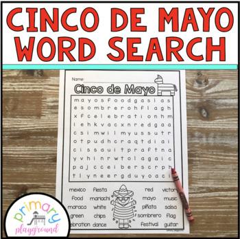 Cinco de Mayo Word Search Freebie!