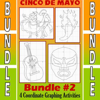 Cinco de Mayo - 4 Coordinate Graphing Activities - Bundle #2
