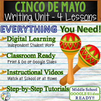 Cinco de Mayo Writing BUNDLE! - Argumentative Persuasive Expository Narrative