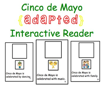 Cinco de Mayo ADAPTED Interactive Reader {10 Pages} {2 Versions}