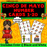 Cinco de Mayo Activities: Counting Cards - Numbers 1-20 - Number Sense