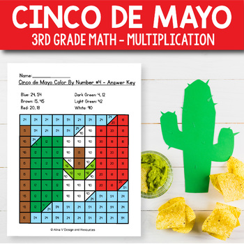 Cinco de Mayo Activities for 3rd Grade - Cinco de Mayo Multiplication