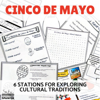 Cinco de Mayo Station Activities for Exploring History and Culture Bundle