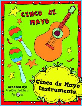 Cinco de Mayo Activity (Coloring Guitar & Maracas)