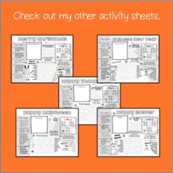Cinco de Mayo Activity Sheet