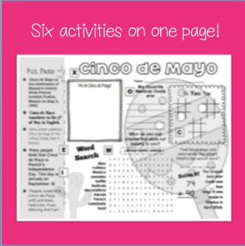 Cinco de Mayo Activity Sheet