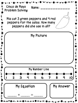 Cinco de Mayo Addition & Subtraction Word Problems {FREEBIE}