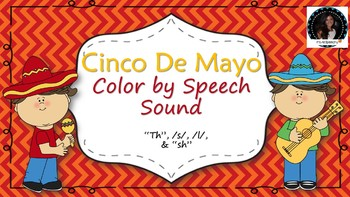 Cinco de Mayo Articulation Coloring l, th, s, sh words