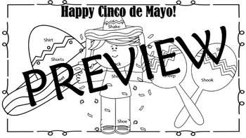 Cinco de Mayo Articulation Coloring l, th, s, sh words