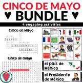 Spanish Cinco de Mayo Bundle of Activities - Bingo, Word W