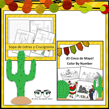 Cinco de Mayo BUNDLE of activities, Spanish!
