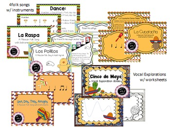 Cinco de Mayo--Big BUNDLE of 20 Music Games and Activities for Rhythm & Melody