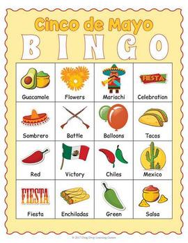 Cinco de Mayo Bingo Game