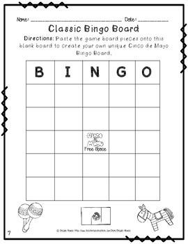 Cinco de Mayo Bingo