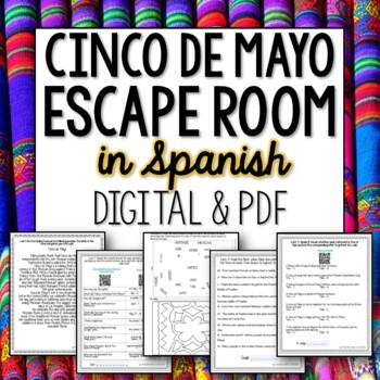 Cinco de Mayo Spanish Break out Room Escape Activity