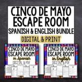 Cinco de Mayo Break out Room Escape Bundle Spanish and English
