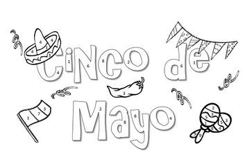 Cinco de Mayo Color by Number (Editable Version)