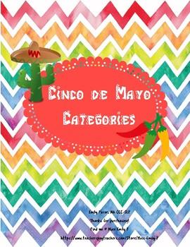 Cinco de Mayo Categories Worksheets