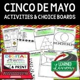 Cinco de Mayo Choice Board Print and Digital Interactive Notebook Google