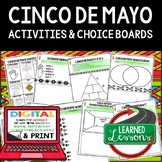 Cinco de Mayo Activities, Choice Board, Interactive Notebook Google