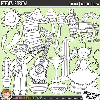 "Cinco de Mayo Clip Art: ""Fiesta, Fiesta!"""