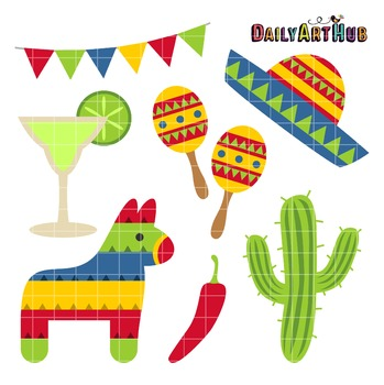 Cinco de Mayo Clip Art - Great for Art Class Projects!