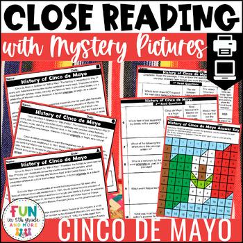 Cinco de Mayo Activities   Cinco de Mayo Reading Comprehension   Close Reading