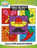 Cinco de Mayo Color By Code Clipart {Zip-A-Dee-Doo-Dah Designs}