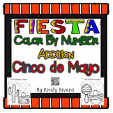 Cinco de Mayo Color By Number - Addition