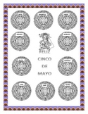Cinco de Mayo-Color the Aztec Calendar & Headband-Word Search Mexican Foods