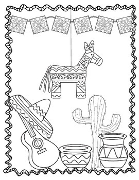 Cinco de Mayo Coloring Sheets