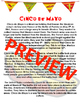 Cinco de Mayo Comprehension Pack