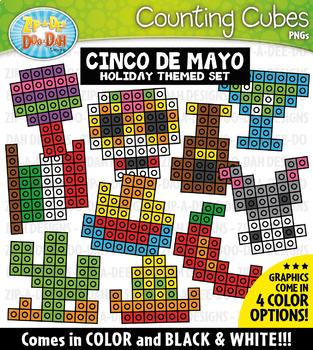 Cinco de Mayo Counting Cubes Clipart {Zip-A-Dee-Doo-Dah Designs}